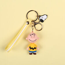 Cute 3D Charlie Brown Doll Keychain Key Chain Keyring Car Bag Charm Gift