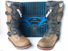New Wulfsport SIZE UK 2.5 Brown Kids Trials Boots Child Youth Gas Gas Beta Txt