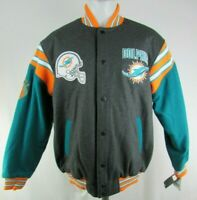 Miami Dolphins NFL G-III Men's Reversible Button-Up Jacket