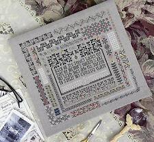 THE MEMORY GARDEN Drawn Thread ~ Counted Cross Stitch CHART Pattern NEW Sampler