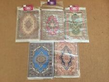 Dolls House Miniature 1/12th Scale Large Turkish Style Patterned Rug - 15x23cms