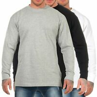 Urban Classics Herren Longsleeve TB009 langarm Shirt Basic Freizeit Crewneck