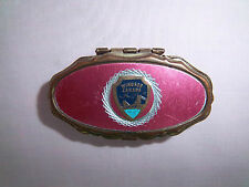 Pill Box Small Oval Designed Logo Windsor Canada Ambassador Bridge USA Hinge Top
