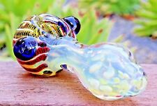 """4.5"""" SNAIL COLLECTIBLE TOBACCO GLASS PIPE SMOKING HERB BOWL HAND PIPES"""
