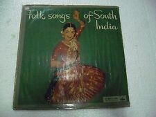 FOLK SONGS OF SOUTH INDIA    RARE LP RECORD TELUGU TAMIL MALAYALAM KANNADA EX