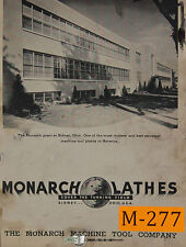 Monarch KK12, Lathe, Operations and Parts Manual Year (1949)