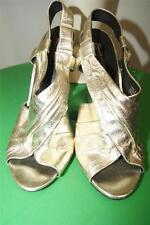 ELIZABETH & JAMES E-WEST METALLIC GOLD WEDGES HEELS SHOES  SIZE 8 B NWOB (tac900