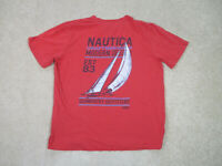 Nautica Shirt Adult Large Red Blue Sailboat Sailing Cotton Outdoors Mens A63*