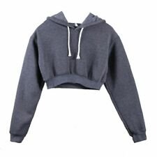 Women Hoodies Long Sleeves Sweatshirt Crop Top Pullover Hooded Hoodie Streetwear