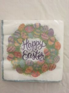 Ideal Home Range 20-Count 3-Ply Paper Lunch Napkins, Happy Easter