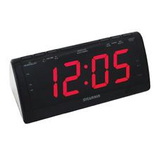 Sylvania Scr1206B Dual Alarm Clock Radio with 1.8-Inch Jumbo Digits