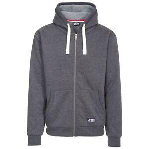 Trespass Feldy Mens Zipped Hoodie Cotton Hooded Sweatshirt for Hiking Trekking