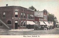 Postcard Main Street in Sheffield, Iowa~111598