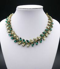 Vintage signed Miriam Haskell Navette rhinestone necklace