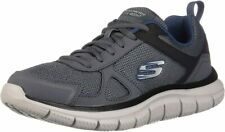 Skechers Men's Track Running Shoes Lite Weight  Scloric  Gray/Navy, Size 9
