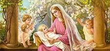 Fiori Madonna di Giovanni BAMBINO ANGELO aureola ST. cartoni Sankt a3 0076