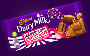 Cadbury Marvellous Creations Jelly Popping Candy Chocolate 3,6 or 9 x 180g Bars