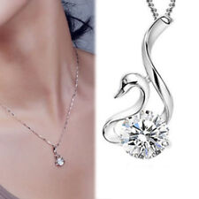 Mothers Day Gift 925 Sterling Silver Swan Pendant Necklace GIFT FOR MOM