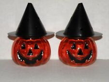 YANKEE CANDLE HALLOWEEN 2008 PUMPKIN WITCH HAT TEA LIGHT CANDLE HOLDERS NWTS