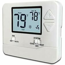 H701 Non-Programmable Nonprogrammable Electronic Thermostat, Up To Heat/1 Cool,