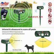 Outdoor Ultrasonic Animal Repeller Drive Solar Powered Pest Cat Fox bird Sensor