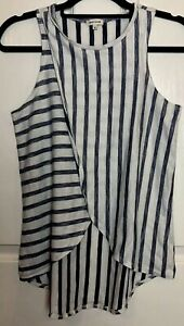River Island Striped Front Crossover Top Size 6 Holiday Summer