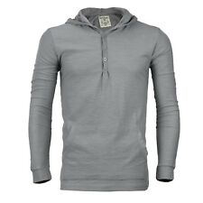 Royal Knight Men's Long Sleeve Lightweight Slim Fit Pullover Henley Shirt Hoodie