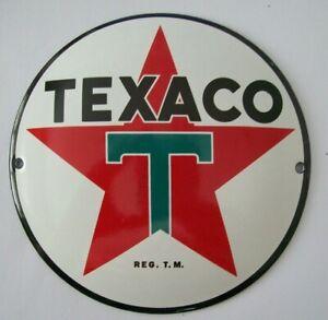 GOOD STOVE ENAMEL TEXACO STAR PETROL OIL BADGE PLAQUE SIGN MAN CAVE GARAGE