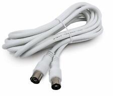 Cable de antena macho-hembra de 5 metros (blanco)