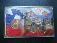 More details for slovenia 2007 1 cent - €2 euro coin & gold-plated medal collection set ~ cased