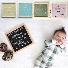 Home Office Felt Letter Board Wooden Frame Changeable Symbols Message Boards