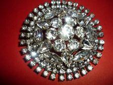 Rinestone Broach pin antique 4inch round good shape