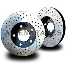 BRAKENETIC PREMIUM DRILLED Brake Rotors+POSI QUIET Ceramic Pads BPK73922 REAR