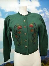 Steffner Austria grüne Strickjacke herrliche Vintage Trachtenjacke Jacke Gr.40