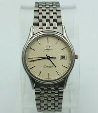 Omega Seamaster Watch Quartz Men's 1430 Vintage Working Swiss Date Stainless