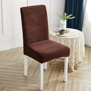Jacquard Stretch Chair Cover Waterproof Seat Cover for Dining Chairs Slipcover
