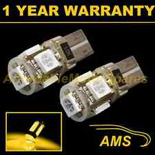 2X W5W T10 501 CANBUS ERROR FREE AMBER 5 LED SIDELIGHT SIDE LIGHT BULBS SL101301