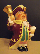 """Wedgwood & Co England Large Toby Town Crier Handpainted 7""""tall 1950's"""