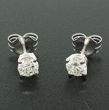 NUEVO 14k Clásicos Oro Blanco 0.77ctw G VS2 Diamante Brillante Redondo
