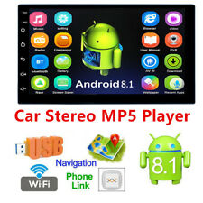 """7""""2Din Android 8.1 Touch Quad Core Car Stereo MP5 Player GPS Wifi entertainment"""
