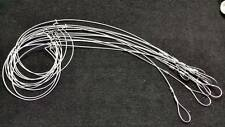 """12 Rabbit/Survival Snares Loaded 1 Dozen Small Game 36"""" Long 1/16 7x7 Cable"""