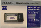 Brand New Belkin F5D8013 Wireless N MIMO Notebook Laptop PC Card PCMCIA v1000