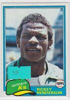 1981 Topps #261 Rickey Henderson NM Near/Mint