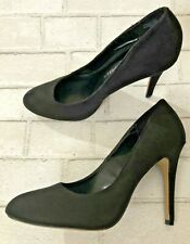 Rock & Republic Sz 10M Black Suede High Heel Stiletto Pumps Womens Heels