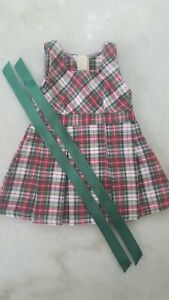 American Girl Pleasant Company MOLLY'S Retired School plaid jumper, vintage 1991
