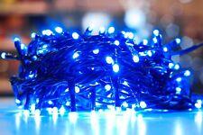 Luci di Natale 180led colore BLU con giochi di luce mt.6,5 PER USO INTERNO