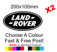 Land Rover Logo Sticker Decal Vinyl Car Van Lorry Motorcycle Funny x2