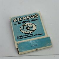 Vintage Kansas The Great State Matchbook Cover Unstruck