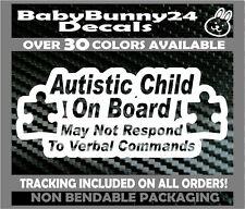 Autistic Enfant à Bord non Verbal Camion Van Autisme Voiture