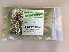 Fresh DRY CURRY LEAVE'S POWDER (Murraya koenigii) USA BLEND. Organic. Net 50 gm